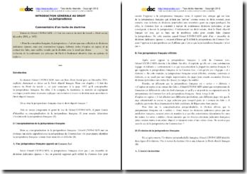 Gérard Lyon-Caen, L'état des sources du droit du travail : commentaire de texte