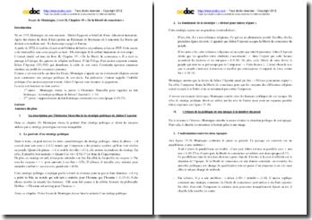 Montaigne, Essais, Livre II, Chapitre 19 : commentaire composé