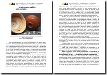 La céramique sigillée gallo-romaine
