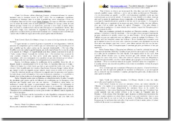 Claude Lévi-Strauss, Tristes Tropiques, extrait : la relation entre l'Européen et le mendiant de Calcutta