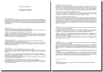 Bibliographie juridique sur la rupture du PACS
