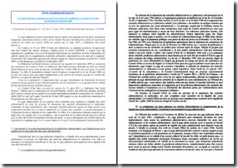 CE, Sect, 23 mars 2012, Fédération Sud Santé Sociaux, La répartition des compétences entre les ordres de juridiction et au sein de l'ordre juridictionnel administratif