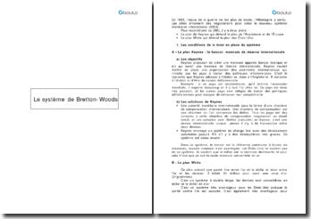 Le système de Bretton-Woods