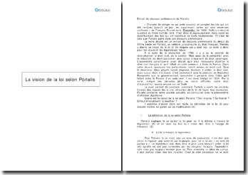 La vision de la loi selon Portalis