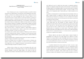 Morale et communication, extraits des 72 et 73 - Jürgen Habermas