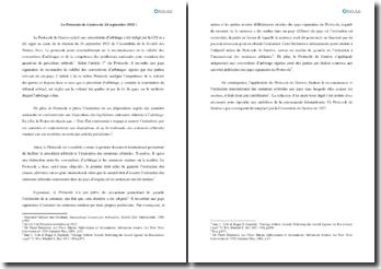 Le Protocole de Genève du 24 septembre 1923