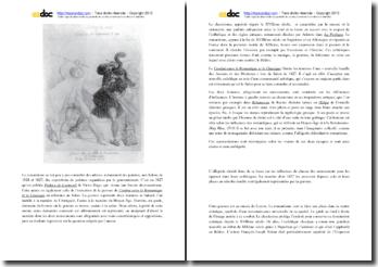 Commentaire pictural du Combat entre le Romantique et le Classique