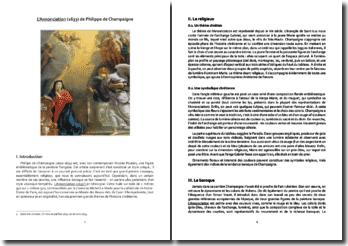 Philippe de Champaigne, L'Annonciation : analyse