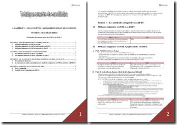 Les comptes consolidés selon les normes internationales (IFRS)