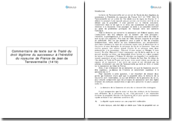 Traité du droit légitime du successeur à l'hérédité du royaume de France - Jean de Terrevermeille