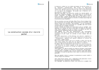 La construction sociale d'un marché parfait - Marie-France Garcia