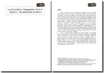 La vie de Néron, Paragraphes XXVIII et XXIX - Suetone : Les débauches de Néron