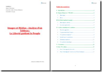 Analyse d'un tableau : La Liberté guidant le Peuple - Delacroix