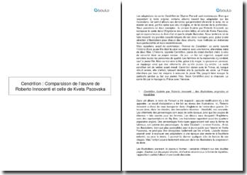 Cendrillon: Comparaison des oeuvres de Roberto Innocenti et de Kveta Pacovska