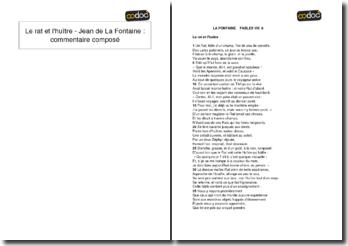 Le rat et l'huître - Jean de La Fontaine : commentaire composé
