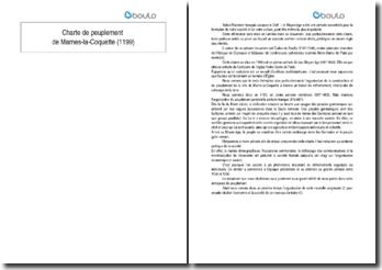 Charte de peuplement de Marnes-la-Coquette (1199)