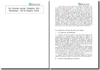 Du Contrat social, Chapitre VIII - Rousseau : De la religion civile