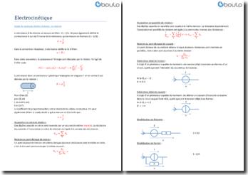 Electrocinétique - Etude de quelques dipôles linéaires : Le résistor
