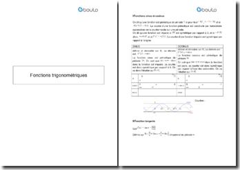 Les fonctions trigonométriques : sinus, cosinus et tangente