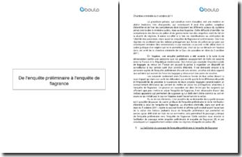 dissertation enquête de flagrance