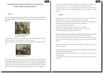 La peinture de bataille en France au XVIIIe siècle : Peinture de genre ou peinture d'histoire ?