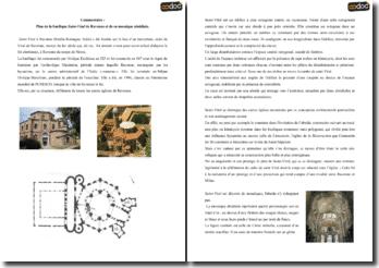 Plan de la basilique Saint-Vital de Ravenne et de sa mosaïque absidiale