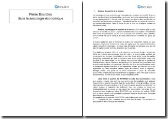 Pierre Bourdieu dans la sociologie économique