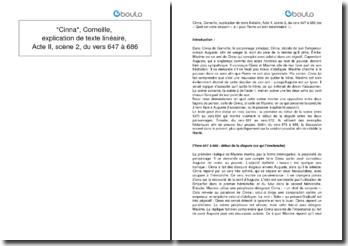 Cinna, Corneille, explication de texte linéaire, Acte II, scène 2, du vers 647 à 686