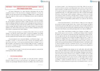 Les liaisons dangereuses - Pierre Choderlos de Laclos : lettre16, Cécile Volanges à Sophie Carnay