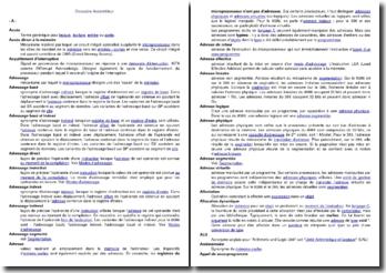 Glossaire Assembleur