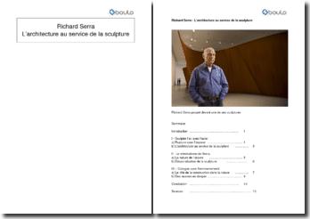Richard Serra, L'architecture au service de la sculpture