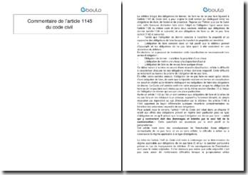 Commentaire de l'article 1145 du Code civil