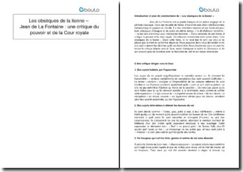 Les obsèques de la lionne - Jean de La Fontaine : une critique du pouvoir et de la Cour royale