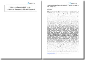 Histoire de la sexualité, tome I : La volonté de savoir - Michel Foucault