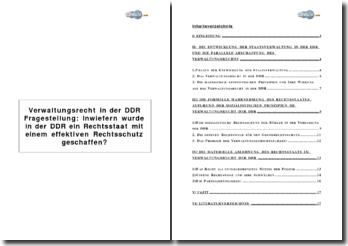 Inwiefern wurde in der DDR ein Rechtsstaat mit einem effektiven Rechtsschutz geschaffen?
