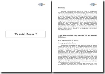 Wo endet Europa ?