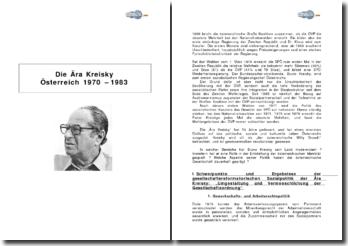 Die Ära Kreisky (Österreich 1970 - 1983)