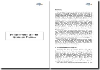 Die Kontroverse über den Nürnberger Prozesse