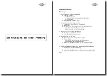 Die Gründung der Stadt Freiburg