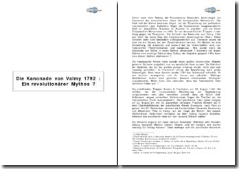 Die Kanonade von Valmy 1792 : ein revolutionärer mythos?