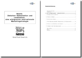 Nestlé: Zwischen Globalisation und Localisation, eine erfolgreiche internationale Marketingstrategie