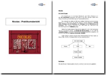 Nicolas: Praktikumsbericht
