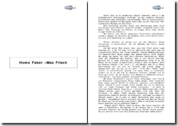 Was bedeutet Homo Faber bei Max Frisch?