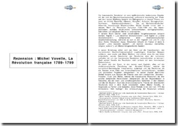 Rezension : Michel Vovelle, La Révolution française 1789-1799