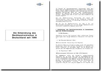 Die Entwicklung des Rechtsextremismus in Deutschland seit 1990