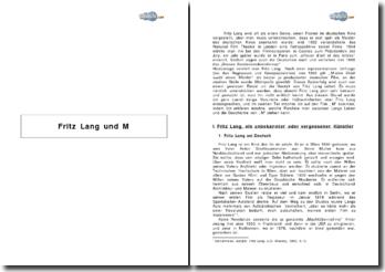 Fritz Lang und M