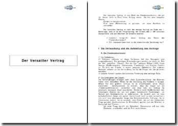 Der Versailler Vertrag