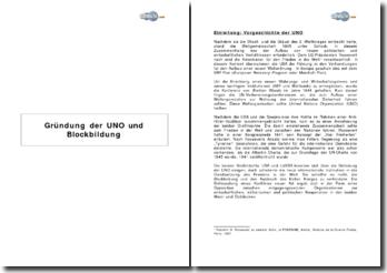 Gründung der UNO und Blockbildung