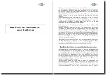 Das Ende der Demokratie, Jean Guéhenno