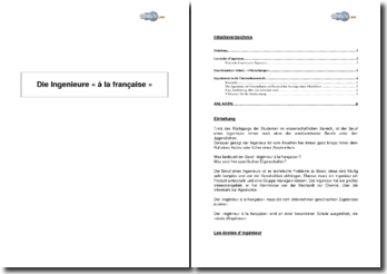 Die Ingenieure « à la française »